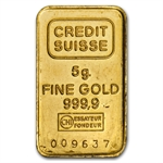 5 gram Gold Bar (Secondary Market) .999+ Fine