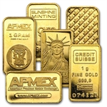 1 gram Gold Bar (Secondary Market) .999 Fine