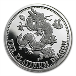 1 oz Johnson Matthey Dragon Platinum Round .9995 Fine
