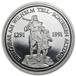1 oz Swiss Platinum Shooting Thalers (Proof)