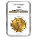 $20 Saint-Gaudens Gold Double Eagle - MS-64 NGC
