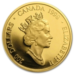 1998 1/2 oz Gold Canadian $200 - The Legend of the White Buffalo