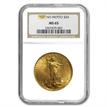 $20 Saint-Gaudens Gold Double Eagle - MS-65 NGC