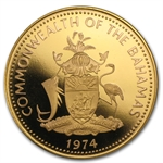 Bahamas 1974 Gold $100 Coin (Proof/Unc)