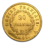 France Gold 20 Francs - Emperor Napoleon I Avg Circ