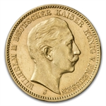 Germany (Prussia) 1910-J Gold 20 Mark (AU)