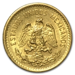 Mexico 1907 5 Pesos Gold Coin (AU/BU)