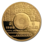Mexico 1986 250 Pesos Gold Proof KM#500.2