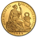 Peru 100 Soles Gold Coin (AU/Unc) Random Years