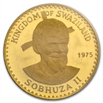 Swaziland 1975 50 Emalangeni Gold Proof AGW 0.1247