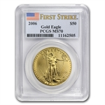 2006 1 oz Gold American Eagle MS-70 PCGS (First Strike)