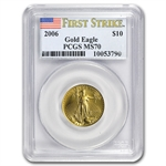 2006 1/4 oz Gold American Eagle MS-70 PCGS (First Strike)