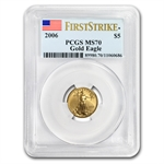 2006 1/10 oz Gold American Eagle MS-70 PCGS (First Strike)