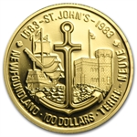 1983 1/2 oz Gold Canadian $100 Proof - St. John's Newfoundland