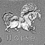 2002 1 oz Silver Canadian Maple Leaf - Lunar HORSE Privy
