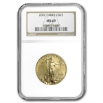 2002 1/2 oz Gold American Eagle MS-69 NGC
