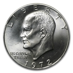 1972-S Eisenhower Dollar 40% Silver BU MS-60 - MS-65