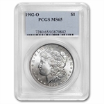 1902-O Morgan Dollar - MS-65 PCGS