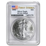 2002 Silver American Eagle - MS-69 PCGS - First Strike