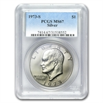 1973-S Eisenhower Silver Dollar MS-67 - PCGS