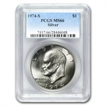 1974-S Eisenhower Silver Dollar MS-66 - PCGS