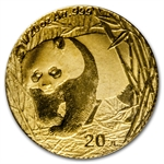 2002 (1/20 oz) Gold Chinese Pandas - (Sealed)