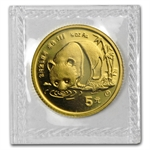 1987-Y (1/20 oz) Gold Chinese Pandas - (Sealed)