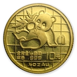 1989 (1/10 oz) Gold Chinese Pandas - Small Date (Sealed)