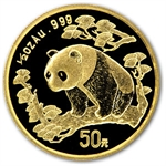 1997 (1/2 oz) Gold Chinese Pandas - Small Date (Sealed)
