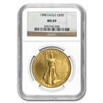 1988 1 oz Gold American Eagle MS-69 NGC