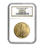 1995 1 oz Gold American Eagle MS-69 NGC