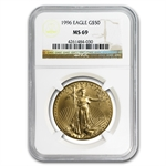 1996 1 oz Gold American Eagle MS-69 NGC