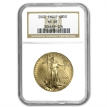 2002 1 oz Gold American Eagle MS-69 NGC