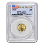 2005 1/10 oz Gold American Eagle MS-69 PCGS (First Strike)