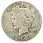 1934-S Peace Dollar Very Fine-20 PCGS