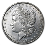 1878 Morgan Dollar - 7/8 Tailfeathers - Almost Uncirculated