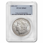 1891-CC Morgan Dollar - MS-63 PCGS