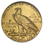 1911 $2.50 Indian Gold Quarter Eagle - AU-58 NGC