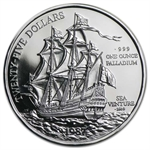 1987 1 oz Bermuda Palladium Sea Venture (Proof)