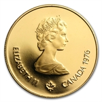 1976 Canada $100 Uncirculated 1/4 oz Gold - Olympic