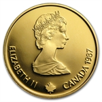 Royal Canadian Mint 1987 $100 1/4oz Gold Proof - Calgary Olympics