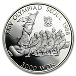 1988 Silver Korean 5,000 Won Seoul Olympic Commemorative Coin