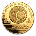 Mexico 1985 or 1986 500 Pesos Gold Coin (Proof)