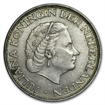 Netherlands 2 1/2 Gulden Silver - (Average Circ) - ASW .3472