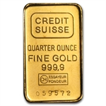 1/4 oz Gold Bar (Secondary Market) .999+ Fine