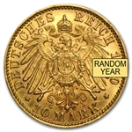 Germany 10 Mark Gold Coins AGW .1152