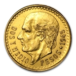 Mexico 2 1/2 Pesos Gold Coin - (Damaged)