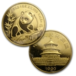 1990 (5 Coin PROOF) Gold Chinese Panda Set (W/Box & COA)