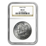 1904-O Morgan Dollar - MS-63 NGC