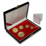 1993 (5 Coin PROOF) Gold Chinese Panda Set - (box and coa)